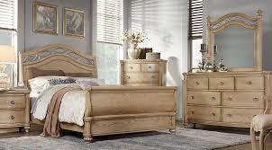 wood queen bedroom sets. Interesting Wood Laurel View Sand 5 Pc Queen Sleigh Bedroom  Sets Light Wood To