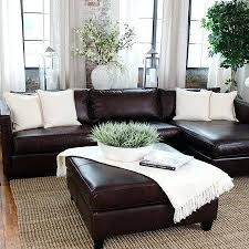 brown leather sofa decor i really like the placement of the couch against the window wall with the flower decor brown leather sofa pillow decor