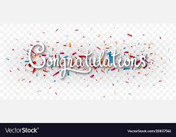 Congratulations Design Congratulations Banner Isolated On Transparent