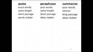 Direct Quotes Summarizing Paraphrasing Lessons Tes Teach