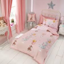 float away toddler duvet set pink easy care belle