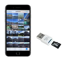 to transfer iphone photos to sd card
