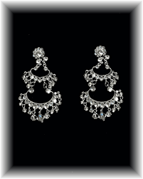 crystal chandelier earrings 2 long 0 75 wide code ejer1339