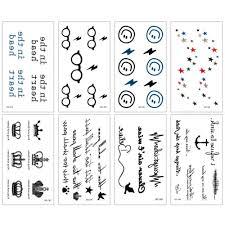 Small Fresh Waterproof Body Art Fashion Temporary Tattoo Stickers For Women Men