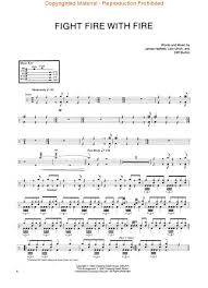 drums sheet music ride the lightning drums drum place