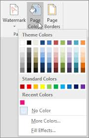 Add Change Or Delete The Background Color In Word Office