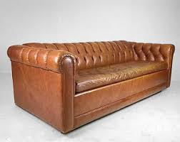 tan leather couch. Mid-Century Tufted Leather Sofa / Sleeper -SOLDMid-Century Tan Couch