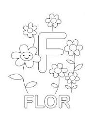Spanish Alphabet Coloring Page F Abc Alphabet Coloring Pages