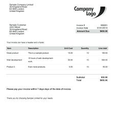 An Example Of An Invoice Receipt Template Nz Example Invoice Example Invoice Invoice Invoice 73