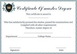 Degree Certificate Samples Certificate Templates