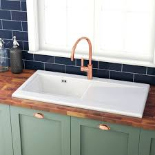 White Ceramic Kitchen Sink Ikea Bowl And Tap Taps Set Patchupdateinfo