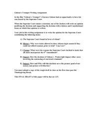 gideon s trumpet guided film questions gideon s trumpet writing assignment