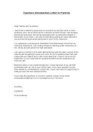 Teacher's Introduction Letter To Parents Teachers Write Extraordinary Letter Of Introduction Teacher