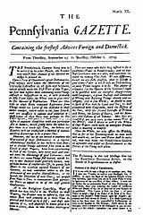1800 Newspaper Template The Pennsylvania Gazette 1728 1800