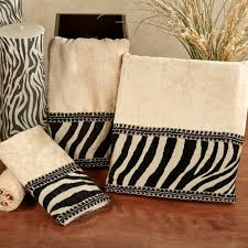 Decorative Bathroom Accessories Sets Zuma Zebra Decorative Towel Set 95