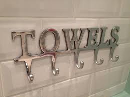 towel rack with hooks. Large Towel Holder Rack 5 Hooks \ With .