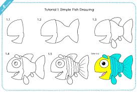 koi fish drawing step by step. Plain Step Simple Fish Drawing For Kid With Pictures Inside Koi Step By S