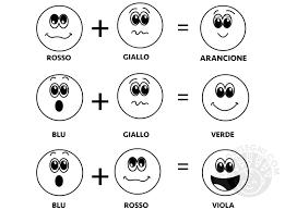 Emoticons Colori Primari E Secondari Da Colorare Tuttodisegnicom