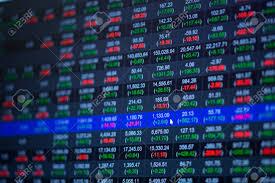 Stock Market Chart Stock Market Data On Led Display Concept