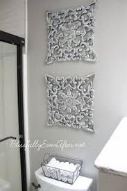 farmhouse master bathroom reveal diy wall decortile  on grey bathroom wall art ideas with relax soak unwind bathroom decor wall art set of 4 prints aqua