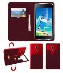 Panasonic T21 Flip Cover by ACM - Red 2 ...