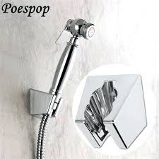 shower head with sprayer free ship wall mounted bathroom shower holder bracket handheld chrome shower head