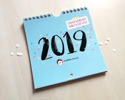 2019 Kalender Auf Englisch Hip Hip Hurra Etsy