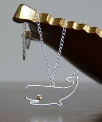 wire whale necklace
