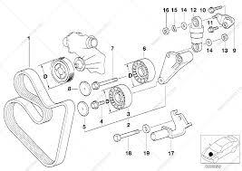 Belt drive water pump alternator for bmw 7 e38 740i m62 sedan rh bmwautodalys lt bmw drive belt routing diagram serpentine belt for bmw