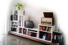 Ikea Living Room Storage Stacking Besta For Media Storage Ikea Hackers Long Wooden