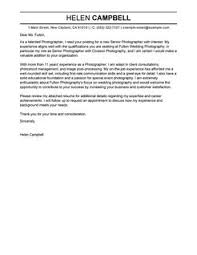 more senior photographer cover letter examples cover letter for entertainment industry