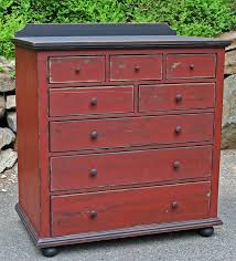 painted red furniture. a two tone dresser from old stone furniture painted red