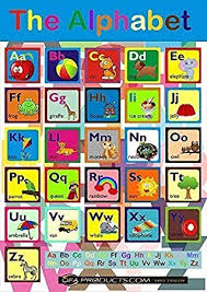 Maxi Size Colourful Educational Abc Poster With 10 Free Colouring In Activity Sheet Learning The Alphabet For Children Pictures For Every Letter
