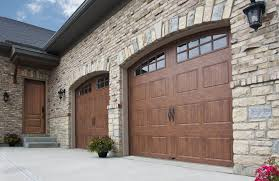clopay gallery faux wood grain style residential garage door
