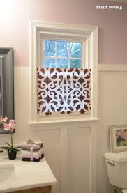 small bathroom window curtains lovely how to make a pretty diy window privacy screen