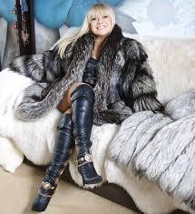silver saga fox fur coat jacket size m l beautiful