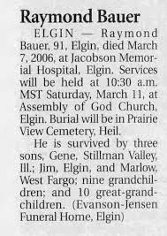 Raymond Bauer obituary - Newspapers.com