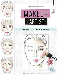 makeup artist sculpt and shape charts the beauty studio collection gina m reyna 9781539912873 amazon books