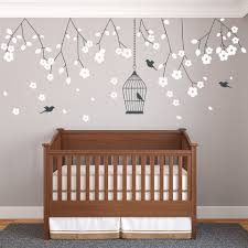 nursery blossom branches wall sticker vinyls on nursery wall art stickers uk with childrens and kids wall stickers nursery wall vinyls by wallboss
