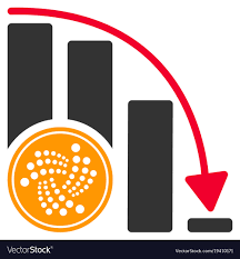 Iota Coin Crisis Chart Flat Icon Vector Image On Vectorstock