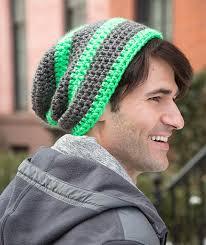 Mens Crochet Beanie Pattern Enchanting Crochet Mens Slouchy Beanie Hat Pattern Crochet And Knit