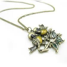 color ceramic double birds pendant chain necklaces chain necklace necklaces