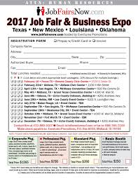 career fairs job fairs and recruiting a credit is possible for missed events but please call us before you miss the event we order tables food supplies advertising prior