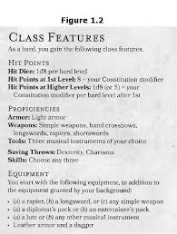 5e Bard Level Chart Creating A D D 5e Character For Beginners 10 Steps