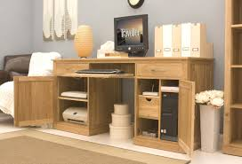 oak hidden home office. Conran Solid Oak Hidden Home Office Twin Pedestal Desk Solution