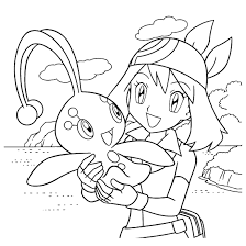 Pokemon Trainer Coloring Page 54 Pokemon Coloring Pages Mew