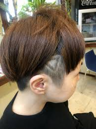 ショート 三角 ラインアート ツーブロックtme Hair川崎小田 Tme Hair
