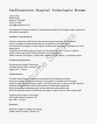 Surgical Technologist Resume Cover Letter Resume For Surgical Technologist Objective Nurse 22