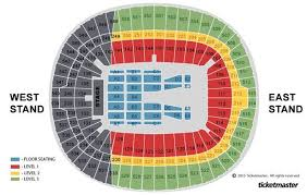 Wembley Arena Seating Plan Row Numbers Best Seat In Concert
