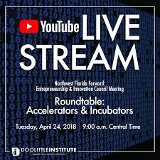 live stream accelerators incubators roundtable